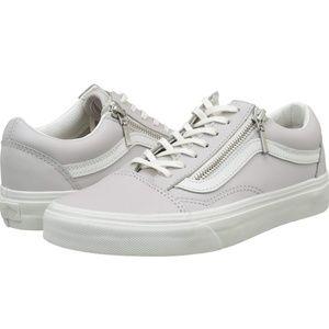 Vans old school zip wind chime blan sneaker,